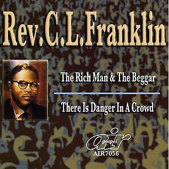 Rev. C.L. Franklin - Rich Man & tiggare/där är faran i en folkmassa [CD] USA import