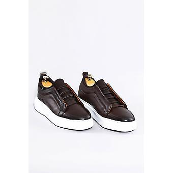 Leather brown sneakers | wessi
