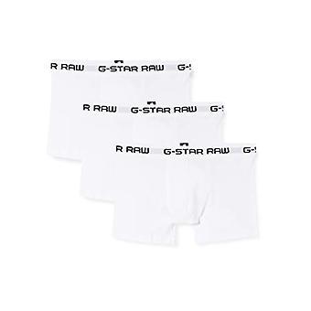 G-STAR RAW Classic Trunk 3 Pack Boxer, White (White/white/white 6008), X-Small (Pack of 3) Men
