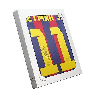 Neymar Jr Underskrevet Barcelona 2013-14 Shirt. Gaveæske