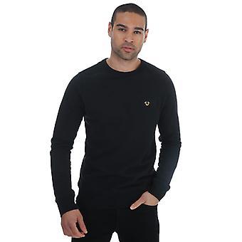 Men's True Religion Metal Horseshoe Sweatshirt in Black
