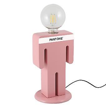 PANTONE Lampe de table Adamo Couleur Rose, Blanc, Noir, en Bois L15xP15xA26 cm