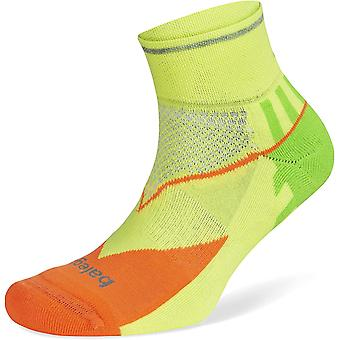 Balega Enduro Unisex Reflective Quarter Running Socks, Multi-Neon