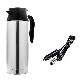 Stainless Steel Electric Kettle, In-car Travel Trip Coffee Tea Heated Mug
