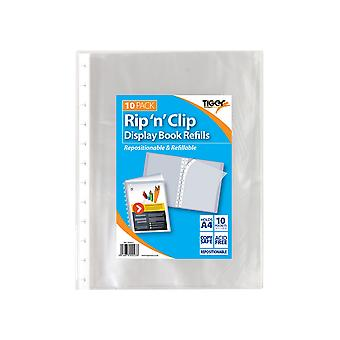 Tiger Stationery Rip N Clip A4 Display Book
