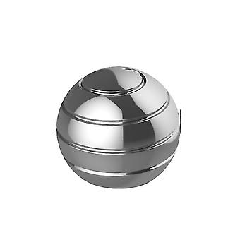 55Mm silver detachable rotating table top ball, fingertip spinning top, decompression toy az6319