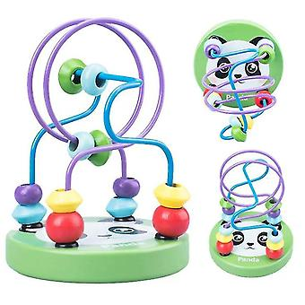 Wooden bead maze for baby,early childhood educational toys,panda az4566