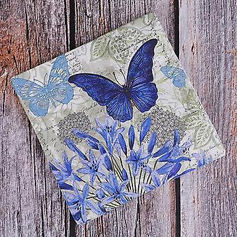 زهرة الفراشة الزرقاء منديل