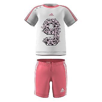 Chándal infantil Adidas Girl White/Pink/80 cm