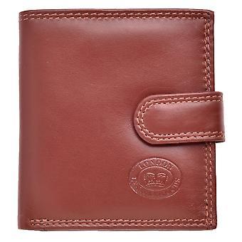 Men's Leather Triple Fold Wallet Coin Holder