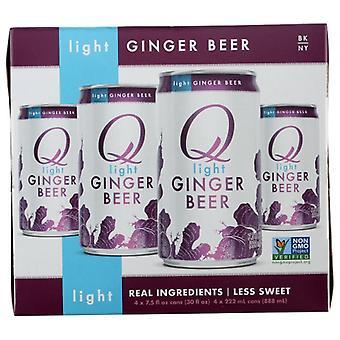 Q Tonic Mixer Ginger Beer Lte 4Pk, sag af 6 X 30 Oz