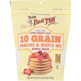 Bobs Red Mill Mix Pnck Wffl 10 Grain, Fodral på 4 X 24 Oz