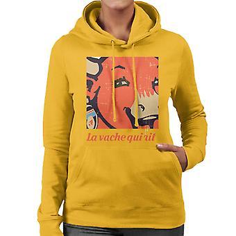 The Laughing Cow La Vache Qui Rit Close Up Women's Hooded Sweatshirt