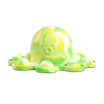 Lysande nyckelring Stress Relief Squishy Pops Fidget Toys Octopus Push Bubble Pops Fidget Sensory Toy For Autism Special