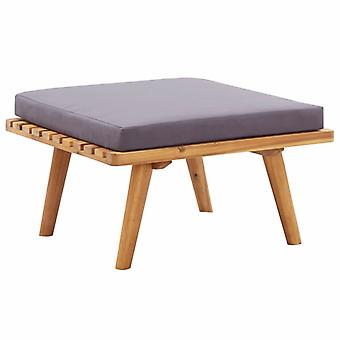 vidaXL garden footstool with pad 60×60×29 cm Acacia solid wood