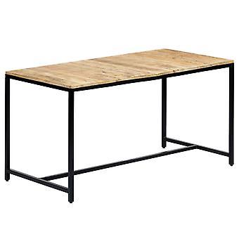 """שולחן אוכל vidaXL 140 x 70 x 75 ס""""מ עץ מנגו מחוספס מוצק"""