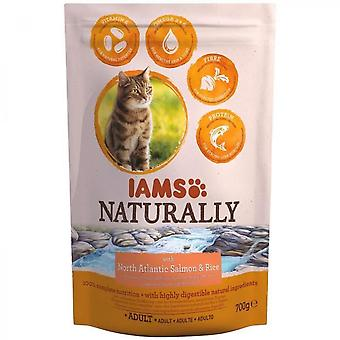 Iams Naturally Croquette North Atlantic Salmon & Rice - All Breeds - 700 G - For Adult Cat
