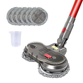 Elektrischer nasser trockener Wischkopf für Dyson v7 v8 v10 v11 austauschbare Teile mit Wassertank Mopp Kopf Mopp Pads Wasserbecher