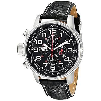 Invicta Force 2770 lederen chronograaf horloge