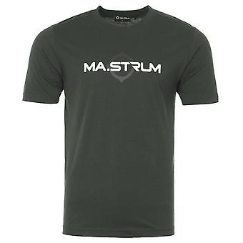 MA.Strum Logo Print Short Sleeve T-Shirt - Oil Slick