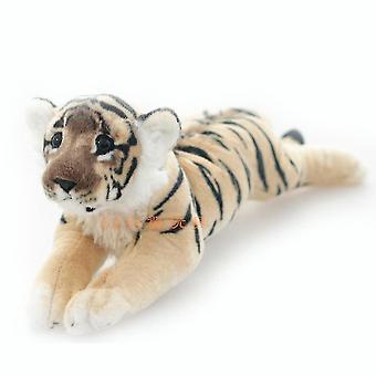 Tigre blanco peluche juguete lindo muñeca suave rellena figura para los niños