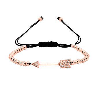 Armbånd, perler og pil - Rosé
