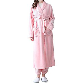 Mile Women Casual Solid Nightgown Two-piece Suit (nightgown + Pants)
