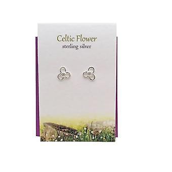 Celtic Flower Stud Earrings Card by The Silver Studio