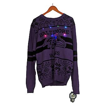 NFL Homme Baltimore Ravens Sweater (XXL) LED Lighted Ugly Purple A371650