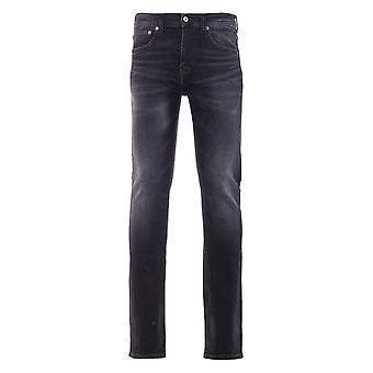 Edwin ED-80 Slim Tapered Jeans - Kahori Wash Ayano Black Denim
