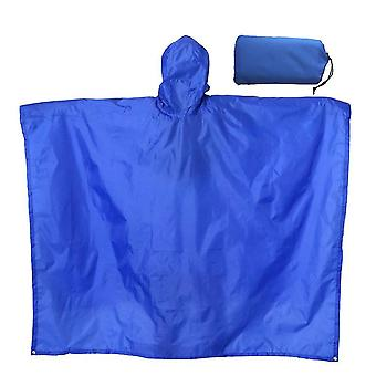 Verdickter Regenmantel Multifunktionaler tragbarer wasserdichter Rucksack (220 * 145cm) (Blau)