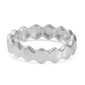 TJC Silver Wedding Band Ring for Womens 925 Sterling Stamped Jewellery(N)