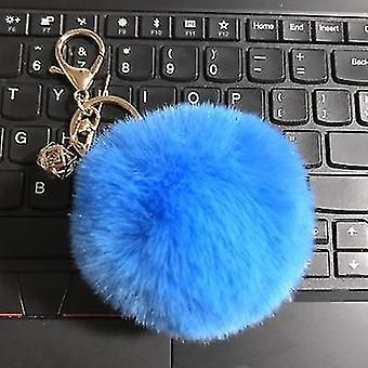 Flauschige und weiche Kaninchen-Pompon-Trinket-Schlüsselanhänger im nordischen Stil (New Sky Blue)