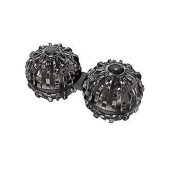 Hieronta pallo sormenpää pyörivä ylä lelu decompression artefakti lievittää väsymystä (musta)