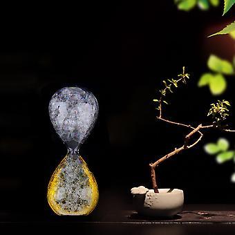 صغير شفاف فقاعة الساعة الرملية الرملية ساعة السائل الموقت هدية الديكور
