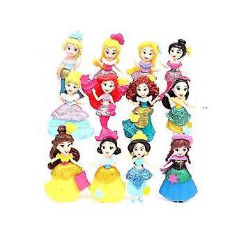 12pcs Long Skirt Dancing Girl Doll Set Pvc Toy Doll Model