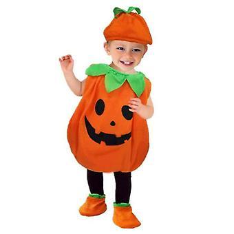 Halloween Kids Pumpkin Fancy Ruha Jelmez Horror Outfit Kísérteties Boys Girls