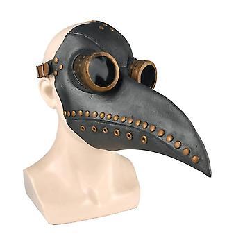Plague Doctor Crow Mask Steampunk Long Nose Bird Beak Mask