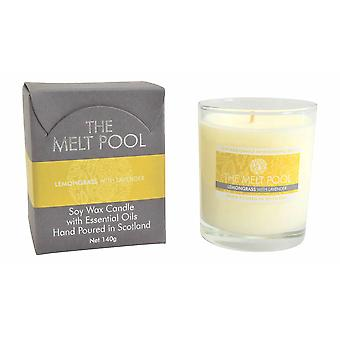 Medium Tumbler Lemongrass & Lavender Candle by The Melt Pool