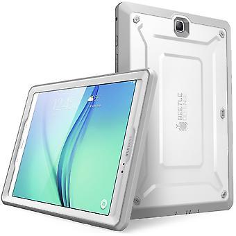 Galaxy Tab en 8,0 fall, Supcase, Unicorn Beetle Pro Series, hela kroppen skyddsfodral med skärmskydd-vit/grå