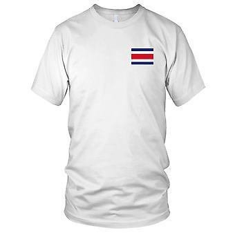 Drapeau National du pays de Costa Rica - brodé Logo - T-Shirt 100 % coton T-Shirt Mens