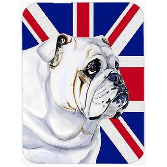 English Bulldog with English Union Jack British Flag Glass Cutting Board Large S