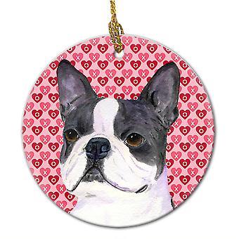 Carolines tesoros SS4516CO1 Boston Terrier adorno cerámica