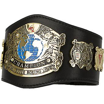 Title Boxing Undisputed Champion Leather Novelty Mini Title Belt - Black