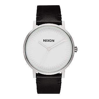 Nixon Porter skórzane biały / srebrny / czarny (A1058-2855)