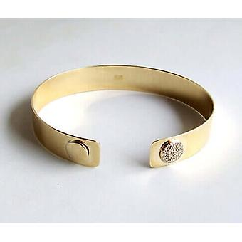 Gold Bracelet with cubic zirconia