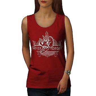 Never Forget Animal Women RedTank Top | Wellcoda