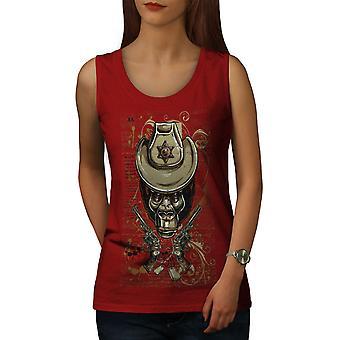 Sheriff Monkey Animal Women RedTank Top | Wellcoda