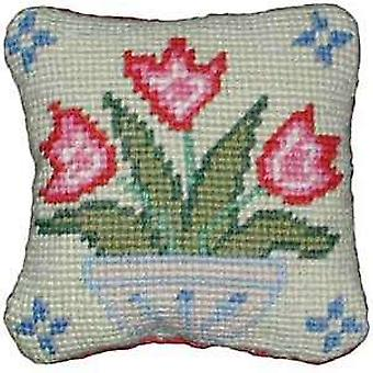 Vase of Tulips Needlepoint Kit