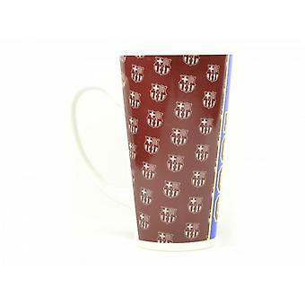 FC Barcelona Official Football Established 1899 Latte Crest Mug